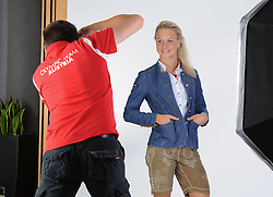 17.07.2016, Hotel Mariott, Wien, AUT, Olympia, Rio 2016, Einkleidung OeOC, im Bild Zaiser Lisa ( Schwimmen) // during the outfitting of the Austrian National Olympic Committee for Rio 2016 at the Hotel Mariott in Wien, Austria on 2016/07/17. EXPA Pictures © 2016, PhotoCredit: EXPA/ Erich Spiess