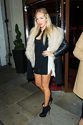 © Licensed to London News Pictures. Aisleyne Horgan-Wallace attends the CAKO & CAKO Kids press launch at Sanctum Soho Hotel in Chelsea, London, UK on 10 December 2013. Photo Credit: Raimondas Kazenas/LNP
