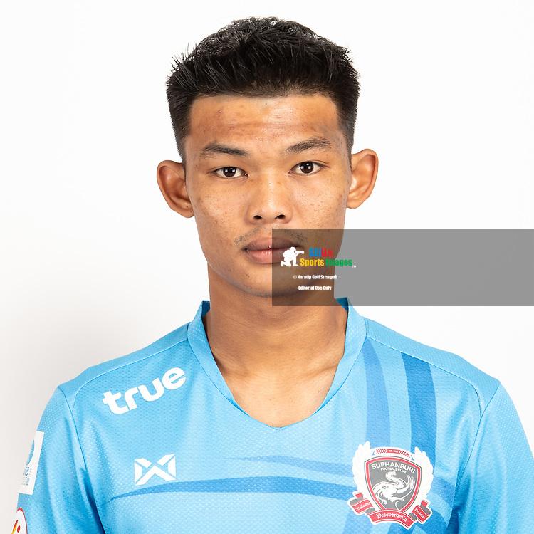 THAILAND - JUNE 07: Suracha Nokthongauthai #39 of Suphan Buri FC on June 07, 2019.<br /> .<br /> .<br /> .<br /> (Photo by: Naratip Golf Srisupab/SEALs Sports Images/MB Media Solutions)