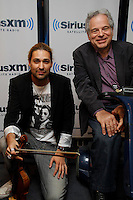 Itzhak Perlman and David Garrett visit the studios of SiriusXM Satellite Radio in New York on June 6, 2012..Photo Credit ; Rahav Iggy Segev / Photopass.com
