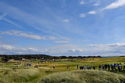 General view as The Duke of Yorks helicopter leaves the course during the Sunday Singles in the Walker Cup at the Royal Liverpool Golf Club, Sunday, Sept 8, 2019, in Hoylake, United Kingdom. (Steve Flynn/Image of Sport)