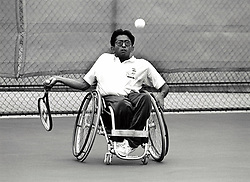 Wheelchair tennis, Nottingham Tennis Centre, UK 1993