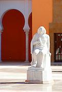 Israel, Caesarea, Ralli Museum of modern art Statue of Baruch Spinoza, January 2007