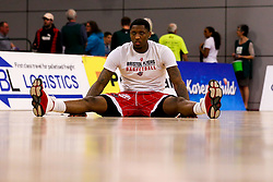 Fred Thomas of Bristol Flyers warms up - Photo mandatory by-line: Robbie Stephenson/JMP - 29/03/2019 - BASKETBALL - English Institute of Sport - Sheffield, England - Sheffield Sharks v Bristol Flyers - British Basketball League Championship