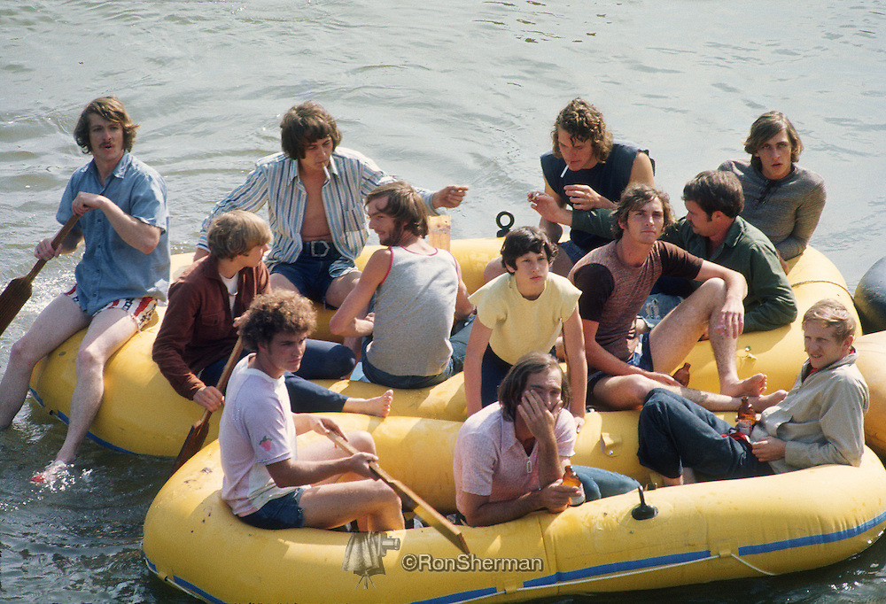 The Ramblin' Raft Race was an annual Memorial Day weekend raft race on the Chattahoochee River in Atlanta that lasted from 1969 to 1980. At its peak, more than 300,000 rafters partook in the race. Amid increasing environmentalism, the race was cancelled. The race was associated with consumption of alcohol and illegal drugs, both by the rafters and the thousands of spectators that lined a route that began in Sandy Springs and ended in Vinings.