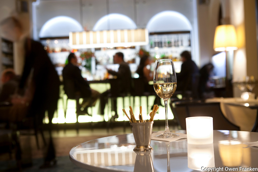The bar in the lounge of the three star Michelin restaurant Daniel, of Daniel Boulud, New York