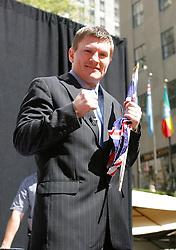 September 19, 2007; New York, NY, USA; World Junior Welterweight Champion Ricky Hatton at the press conference announcing his bout against World Welterweight Champion Floyd Mayweather Jr.  The fight will take place on December 8, 2007 at the MGM Grand Garden Arena in Las Vegas, Nevada.
