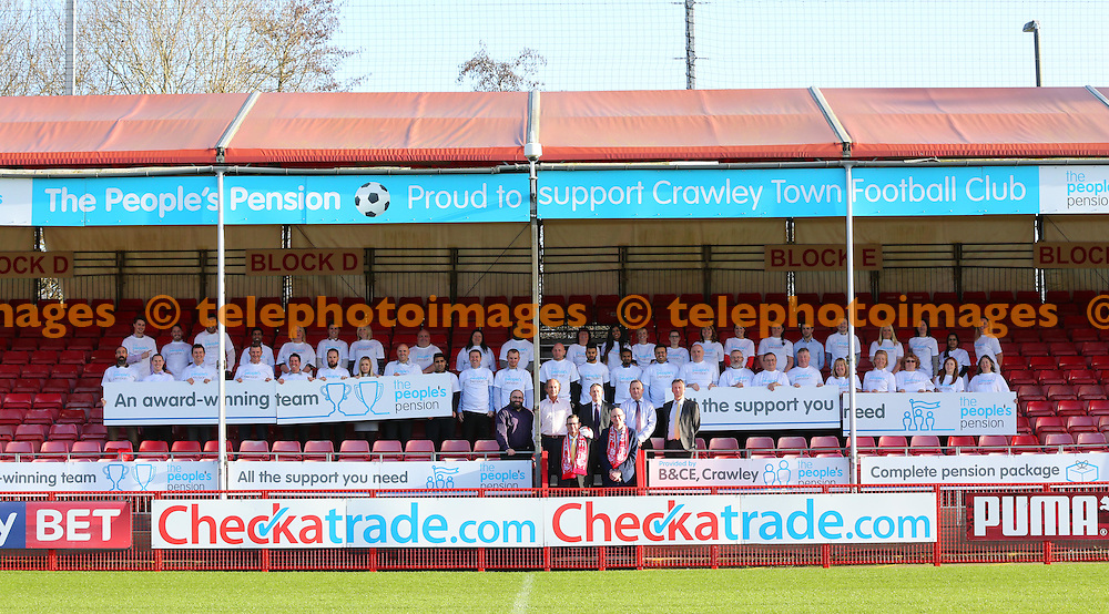New East Stand sponsors Peoples Pention at the Checkatrade.com Stadium<br /> James Boardman / Telephoto Images<br /> +44 7967 642437