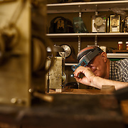 Jay Holloway, horologist, of Holloway Trading in Pflugerville, Texas.