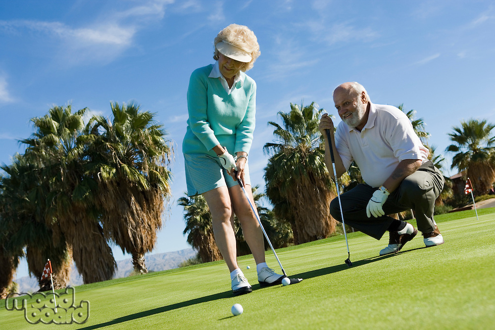 Couple on Putting Green