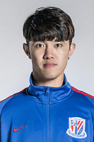 **EXCLUSIVE**Portrait of Chinese soccer player Li Jianbin of Shanghai Greenland Shenhua F.C. for the 2018 Chinese Football Association Super League, in Shanghai, China, 2 February 2018.