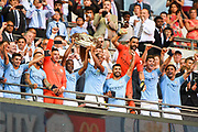 Manchester City beat Chelsea (2-0) to lift the Community Shield at the FA Community Shield match between Chelsea and Manchester City at Wembley Stadium, London, England on 5 August 2018. Picture by Stephen Wright.