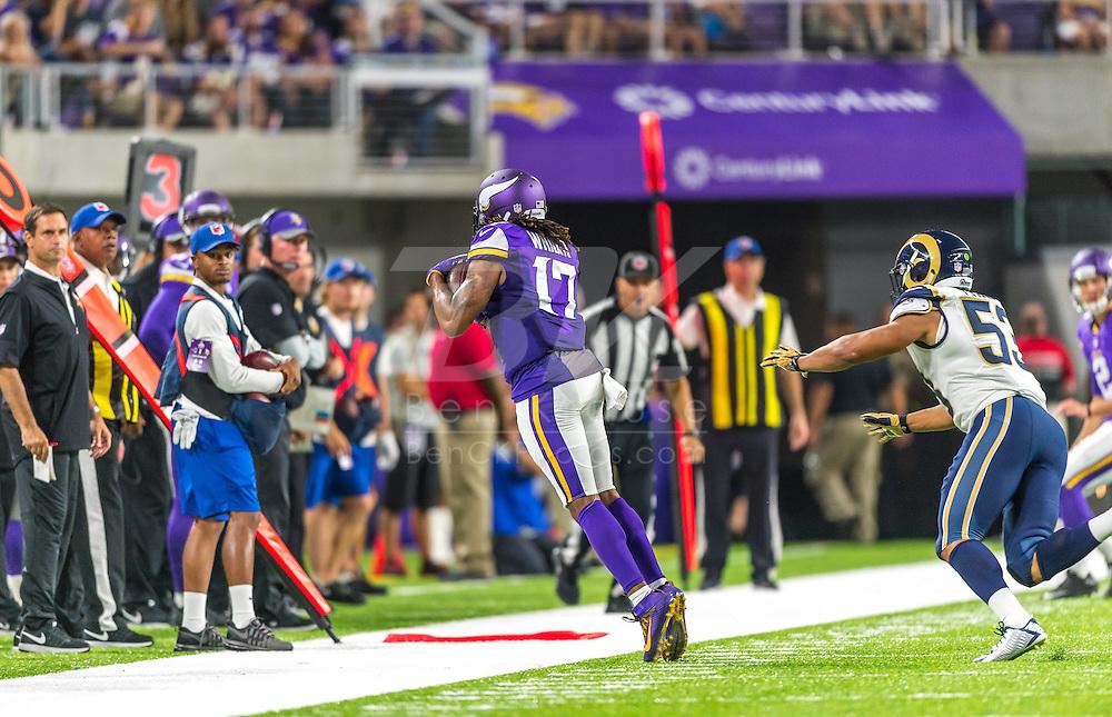 Minnesota Vikings vs. Los Angeles Rams on September 1, 2016 at U.S. Bank Stadium in Minneapolis, Minnesota.  Photo by Ben Krause/Minnesota Vikings