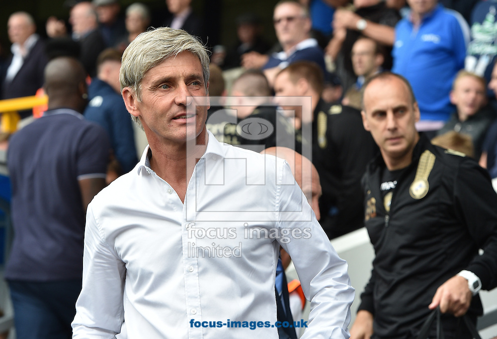 Manager Jose Riga of Blackpool during the Sky Bet Championship match at The Den, London<br /> Picture by Alan Stanford/Focus Images Ltd +44 7915 056117<br /> 30/08/2014