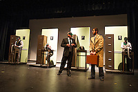 The Producers dress rehearsal with Streetcar Company at Inter Lakes High School.  Karen Bobotas for the Laconia Daily Sun
