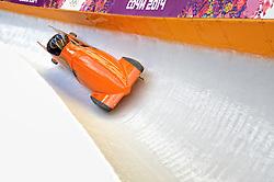 14-02-2014 BOBSLEE: OLYMPIC GAMES: SOTSJI<br /> Training 2 mans bob vrouwen op het Sliding Center Sanki / Esme Berghuis en Judith Vis<br /> ©2014-FotoHoogendoorn.nl