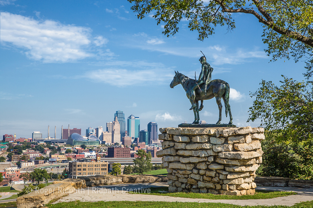 KC Scout and full skyline in Kansas City Missouri