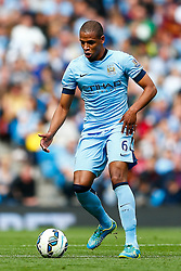 Fernando of Manchester City in action - Photo mandatory by-line: Rogan Thomson/JMP - 07966 386802 - 30/08/2014 - SPORT - FOOTBALL - Manchester, England - Etihad Stadium - Manchester City v Stoke City - Barclays Premier League.