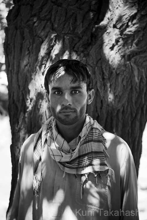 Jawad, 21, of suburban Kabul, farmer .in Kabul, Afghanistan on Aug 15, 2011.(Photo by Kuni Takahashi)