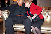 JAMES EARL JONES; CECILIA HART;, The Society of London Theatre lunch for all the nominees for the 2010 Laurence Olivier Awards. Haymarket Hotel, 1 Suffolk Place, London, 2 March 2010 *** Local Caption *** -DO NOT ARCHIVE-© Copyright Photograph by Dafydd Jones. 248 Clapham Rd. London SW9 0PZ. Tel 0207 820 0771. www.dafjones.com.