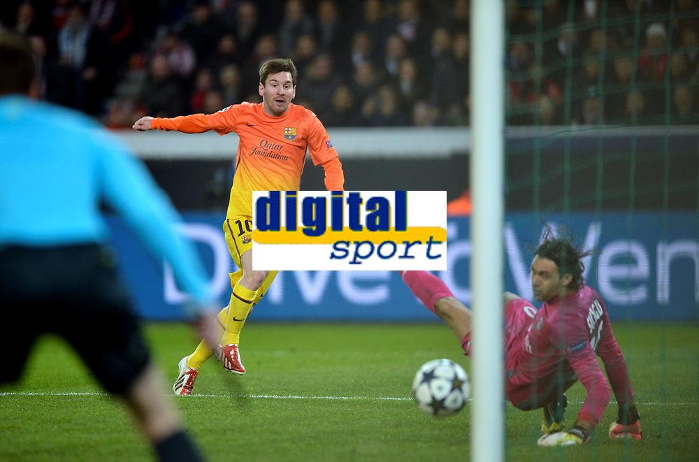 But Leo Messi (bar) - Salvotore Sirigu (psg)