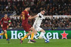 November 27, 2018 - Rome, Italy - Konstantinos Manolas of AS Roma vies Gareth Bale of Real Madrid  during the Champions league football match between AS Roma  and Real Madrid at Olimpico stadium in Rome, Italy, on November 27, 2018. (Credit Image: © Federica Roselli/NurPhoto via ZUMA Press)
