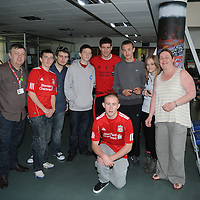 Footballer Steven Gerrard meets fans at Mewood Training Complex in Liverpool.<br /> Picture by Paul Currie