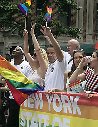June 24, 2018 - New York, New York, United States - Govenor of New York Andrew Cuomo takes part in the Gay Pride Parade on June 24 2018 in New York City  (Credit Image: © John Sheene/Ace Pictures via ZUMA Press)