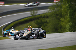 April 23, 2018 - Birmingham, Alabama, United States of America - JAMES HINCHCLIFFE (5) of Canada battles for position through the turns during the Honda Grand Prix of Alabama at Barber Motorsports Park in Birmingham, Alabama. (Credit Image: © Justin R. Noe Asp Inc/ASP via ZUMA Wire)