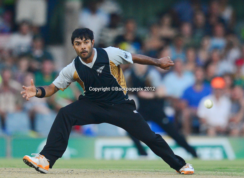 Roneel Hira of New Zealand  during the 2012 KFC T20 International between South Africa and New Zealand at Buffalo Park in East London, South Africa on December 23, 2012 ©Barry Aldworth/BackpagePix