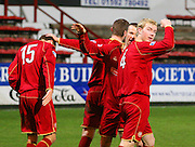 IRN BRU Scottish League First Division<br /> East End Park, Dunfermline, 01/12/2007<br /> Kevin McDonald celebrates his winner at East End Park<br /> <br /> © David Young<br /> <br /> Monifieth<br /> Dundee