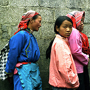 Women belonging to the Miao tribe in south-west China
