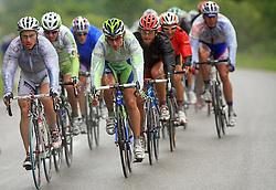 From L: ? Rider of OTC, Jure Kocjan of Slovenia (Perutnina Ptuj), Franco Pellizotti of Italia (Liquigas) and Gerhard Trampusch of Austria (Elk Haus - Simplon) in last 4th stage of the 15th Tour de Slovenie from Celje to Novo mesto (157 km), on June 14,2008, Slovenia. (Photo by Vid Ponikvar / Sportal Images)/ Sportida)
