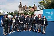 Jury <br /> Duet Free Final <br /> Synchronised swimming , Synchro<br /> 20/07/2017 <br /> XVII FINA World Championships Aquatics<br /> City Park - Varosliget Lake<br /> Budapest Hungary <br /> Photo Andrea Staccioli/Deepbluemedia/Insidefoto