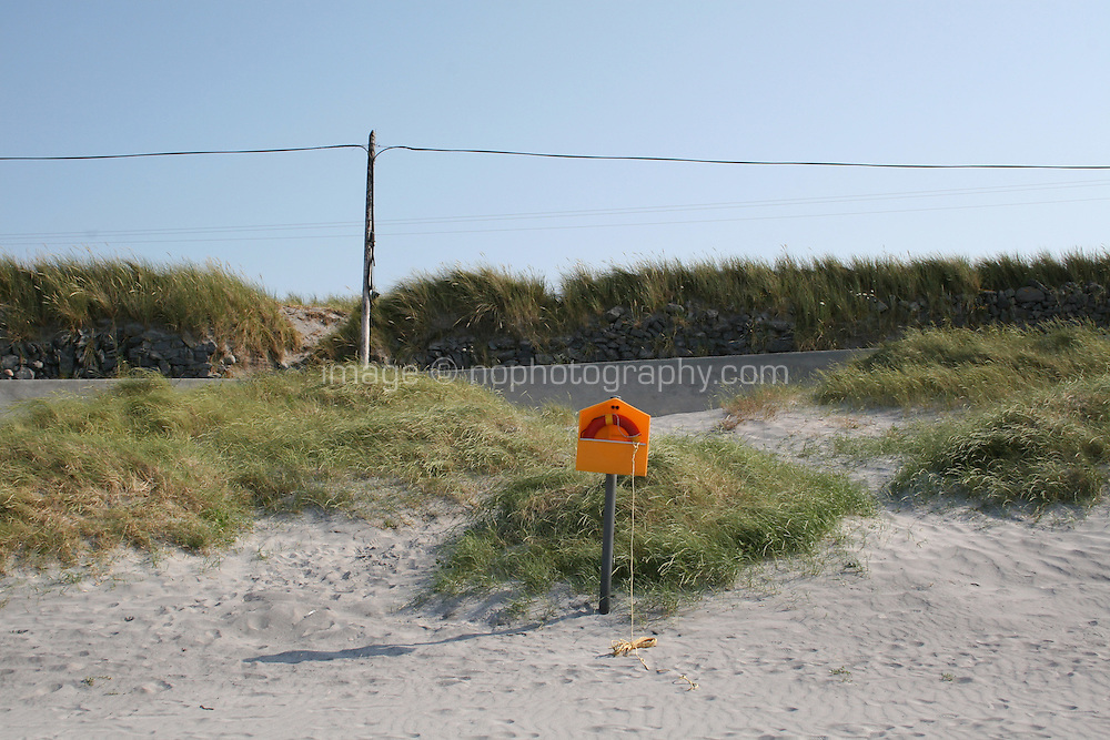 Lifebouy on Aran Island beach County Galway Ireland