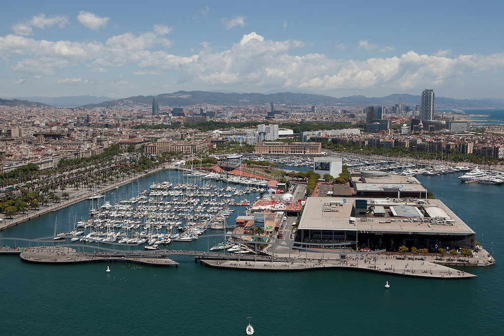 Aerial view of Barcelona.