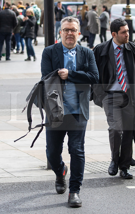 © Licensed to London News Pictures. 04/04/2019. London, UK. Deputy Leader of the Labour Party Tom Watson seen walking through Westminster. MPs voted last night by a majority of one to extend article 50. The bill will be passed to the House of Lords today. Photo credit : Tom Nicholson/LNP