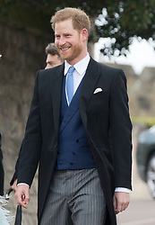 May 18, 2019 - Windsor, United Kingdom - Image licensed to i-Images Picture Agency. 18/05/2019. Windsor , United Kingdom.  Prince Harry, The Duke of Sussex  arriving for the Lady Gabriella Windsor  at St.George's Chapel, Windsor, United Kingdom. (Credit Image: © Stephen Lock/i-Images via ZUMA Press)
