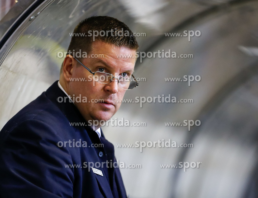 19.09.2014, Messestadion, Dornbirn, AUT, EBEL, Dornbirner EC vs UPC Vienna Capitals, 3.Runde, im Bild Tom Pokel, (UPC Vienna Capitals Head Coach)// during the Erste Bank Icehockey League 3rd round match between Dornbirner EC and UPC Vienna Capitals at the Messestadion in Dornbirn, Austria on 2014/09/19, EXPA Pictures © 2014, PhotoCredit: EXPA/ Peter Rinderer