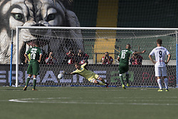September 30, 2017 - Avellino, Campania, Italy - Luigi Castaldo of  AS Avellino scores a penalty  during Serie B match between AS Avellino and Empoli FC at Stadium Partenio Adriano Lombardi in Avellino, on 30 September 2017. (Credit Image: © Paolo Manzo/NurPhoto via ZUMA Press)