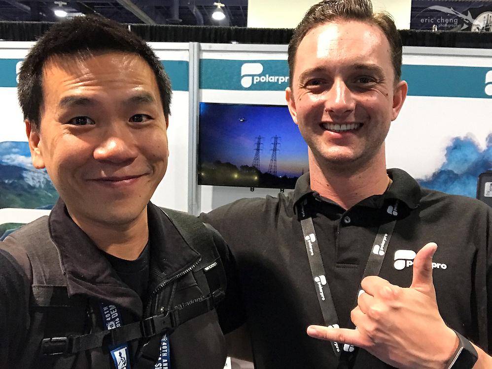 Eric Cheng and Austen Butler (DEMA 2016, Las Vegas)