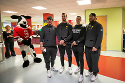 The Michigan Wolverines visit patients at Children's Health Care of Atlanta's Egleston Children's Hospital on Wednesday, December 26, 2018, in Atlanta. Michigan will face Florida in the 2018 Chick-fil-A Peach Bowl NCAA football game on December 29, 2018. (Jeannie Abell via Abell Images for the Chick-fil-A Peach Bowl)
