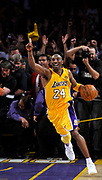 Kobe Bryant celebrates after the final buzzer. The Lakers defeated the Boston Celtics in game 7 of the NBA Finals  83-79 in Los Angeles, CA 06/16/2010 (John McCoy/Staff Photographer)