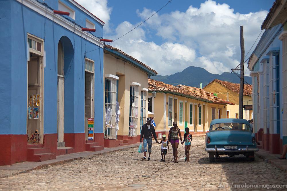Central America, Cuba, Trinidad. Cuban family in Trinidad.