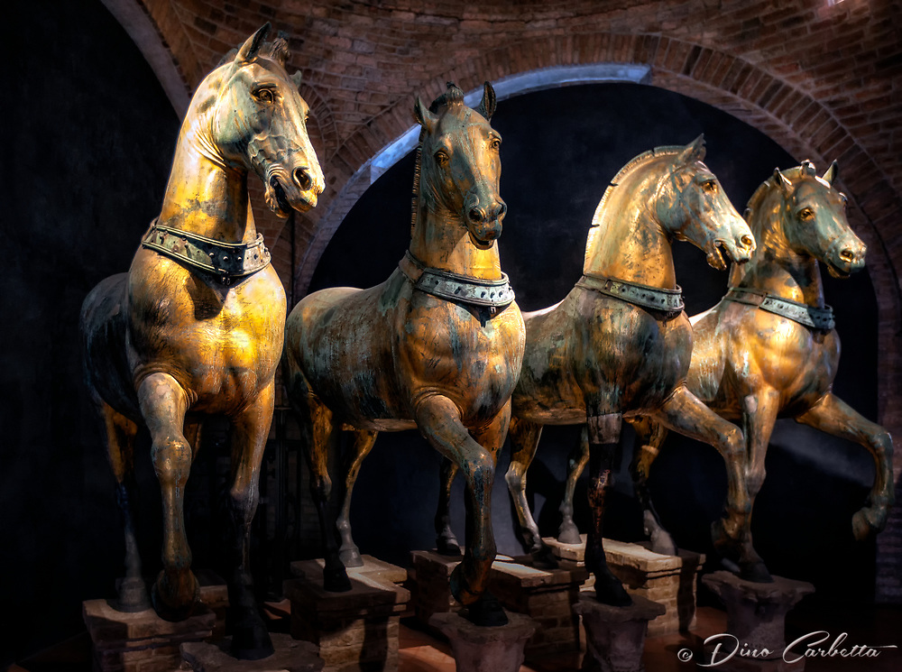 &quot;The Triumphal Quadriga - Horses of Saint Mark's Basilica in Venice&quot;...<br />