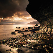 Sunset, Elgol shore, Isle of Skye, highlands, inner hebridies, Scotland