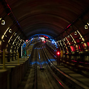 December 12, 2016 - New York, NY :  A view inside the Second Avenue subway tunnel between the 86th and 72nd Street stations, on Monday morning. After years of delays, the new subway line is preparing to welcome its first straphangers. CREDIT: Karsten Moran for The New York Times