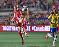 June 07, 2016: Women's International friendly between Canada and Brazil at TD Place Stadium in Ottawa, ON. Canada on June 7, 2016. Janine Beckie (#19) scored the only goal of the game to give Canada a 1-0 win over Brazil.<br /> <br /> PHOTO: Steve Kingsman