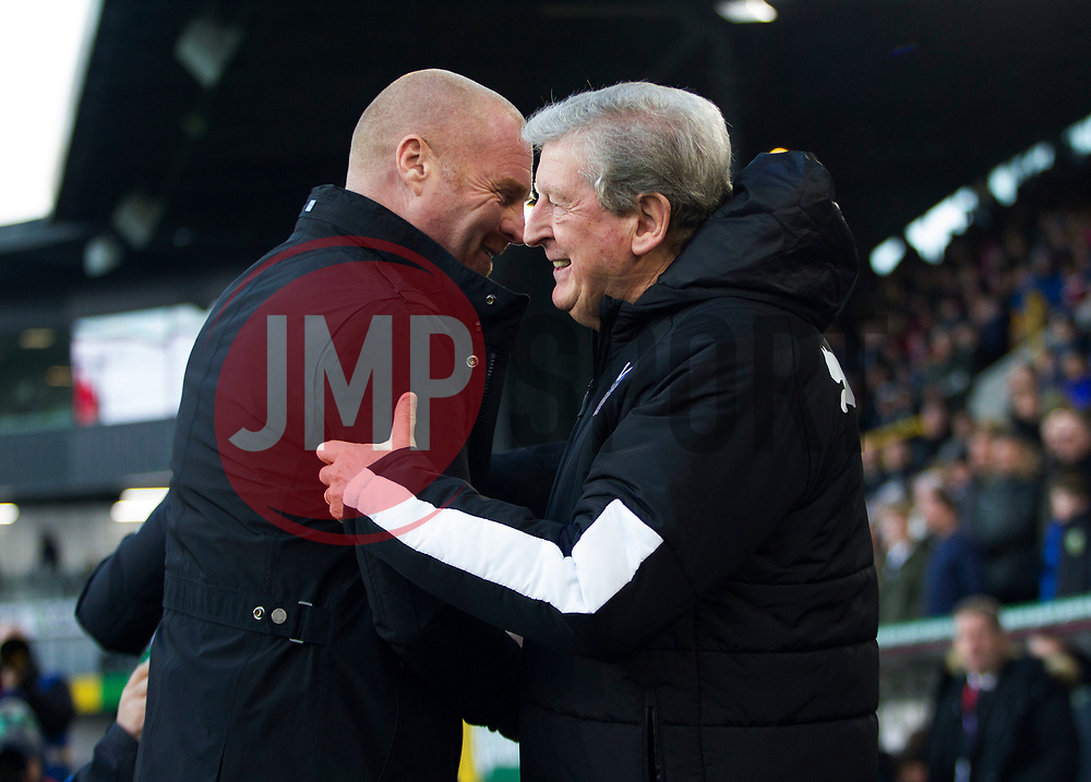 Burnley manager Sean Dyche (L) and Crystal Palace manager Roy Hodgson - Mandatory by-line: Jack Phillips/JMP - 30/11/2019 - FOOTBALL - Turf Moor - Burnley, England - Burnley v Crystal Palace - English Premier League