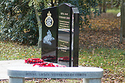 The Royal Army Veterinary Corps Memorial at the National Memorial Arboretum, Croxall Road, Alrewas, Burton-On-Trent,  Staffordshire, on 29 October 2018. Picture by Mick Haynes.